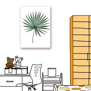 【24mama 掛畫】單聯式油畫布無框畫_40x60cm_熱帶植物7