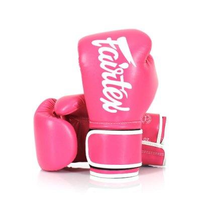 [古川小夫] Fairtex 12oz 健身房拳擊手套~重擊打沙袋拳套~個性化改裝 - 桃紅白 BGV14