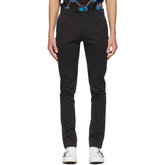 Lacoste 黑色直筒奇诺裤