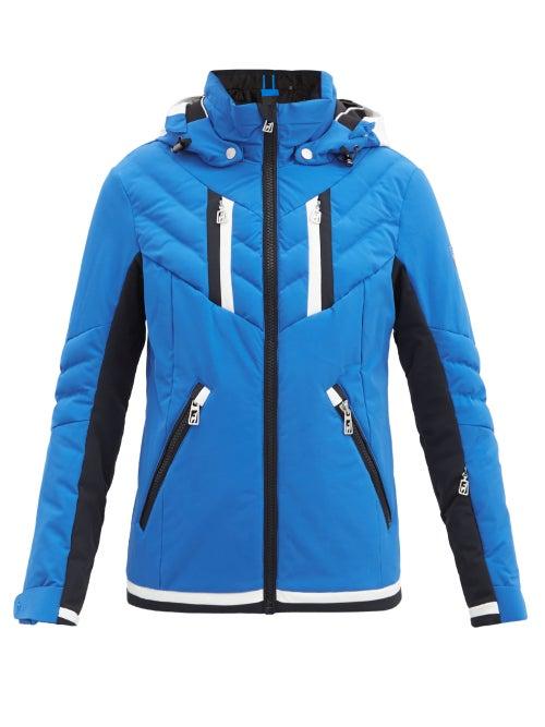 Toni Sailer - Henni Hooded Padded Ski Jacket - Womens - Blue Multi