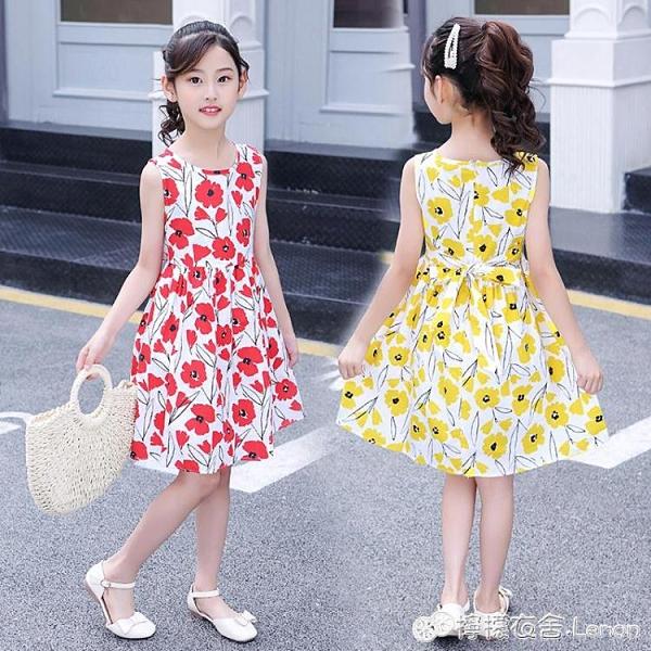 女童洋裝 女童洋裝夏季新款韓版中大兒童棉布裙小孩洋氣露肩公主裙子