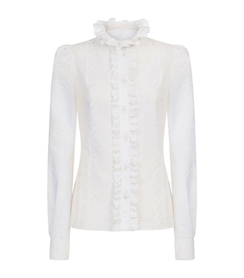 Dolce & Gabbana Broderie Anglaise Ruffle Shirt
