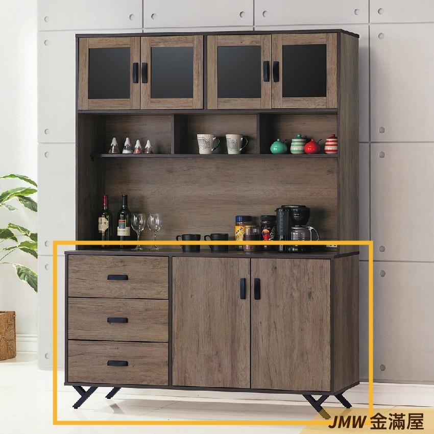150cm 北歐餐櫃收納 實木電器櫃 廚房櫃 餐櫥櫃 碗盤架 中島大理石金滿屋尺餐櫃-g830-