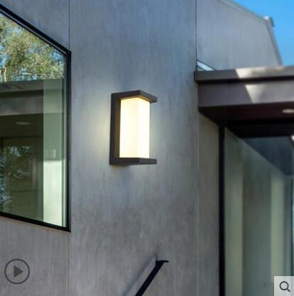 壁燈 戶外壁燈防水防塵室外燈別墅過道庭院燈 D款 兩色可選W8088