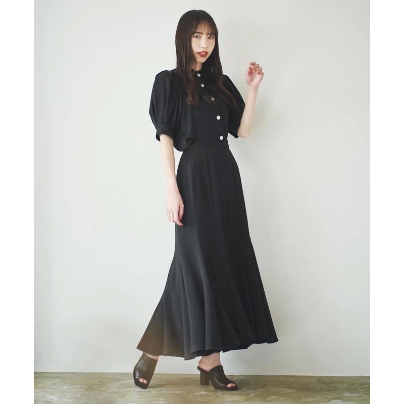 (已售出)全新正品cocodeal 黑色 立領公主袖襯衫