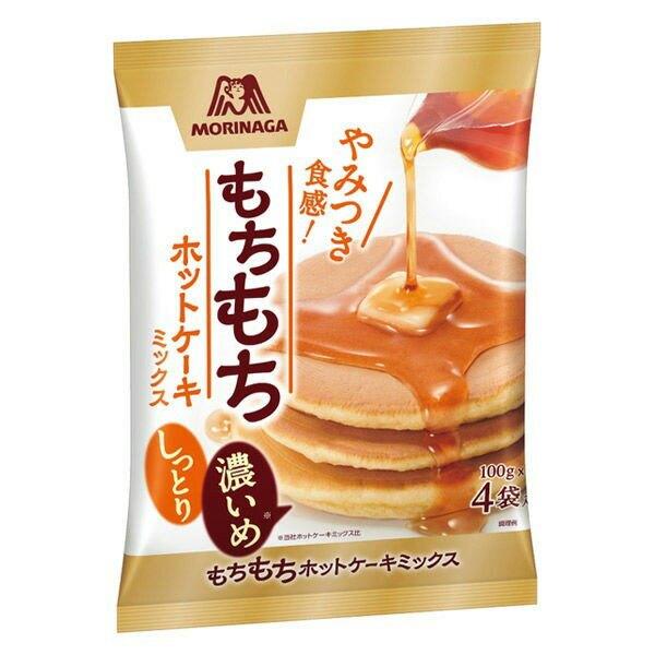 【江戶物語】森永 morinaga 手作濃厚鬆餅粉 100gX4袋入 薄煎餅粉 德用鬆餅粉 蛋糕粉 甜點材料 日本進口