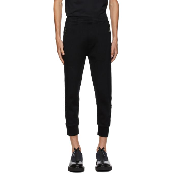 Neil Barrett 黑色 and 白色条纹运动裤