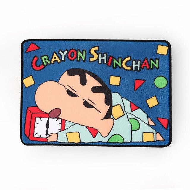 蠟筆小新長方形腳踏墊 賴床- Norns Crayon Shin chan正版授權 睡衣圖案止滑門墊 地墊 地毯