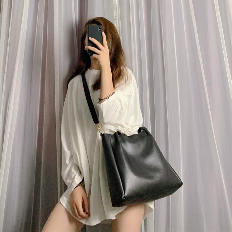 包包女2020新款潮韓版百搭單肩包大容量簡約托特包學生手提斜挎包【新品】