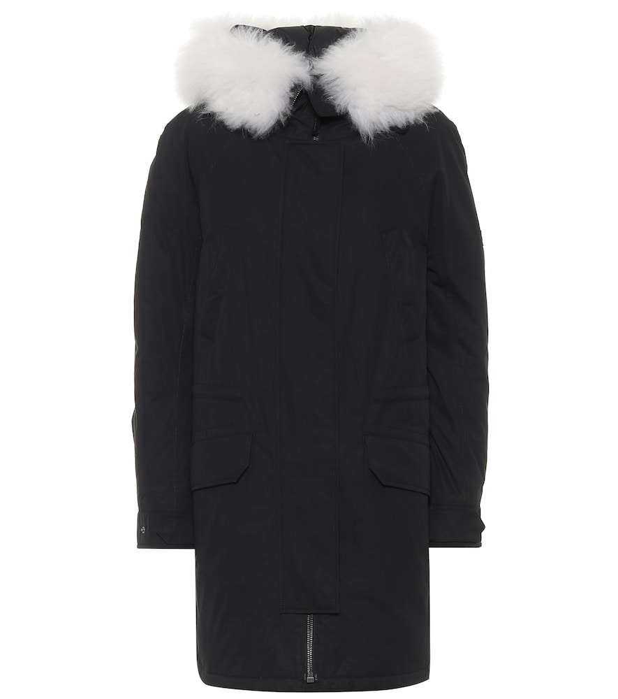 Army shearling-trimmed down parka