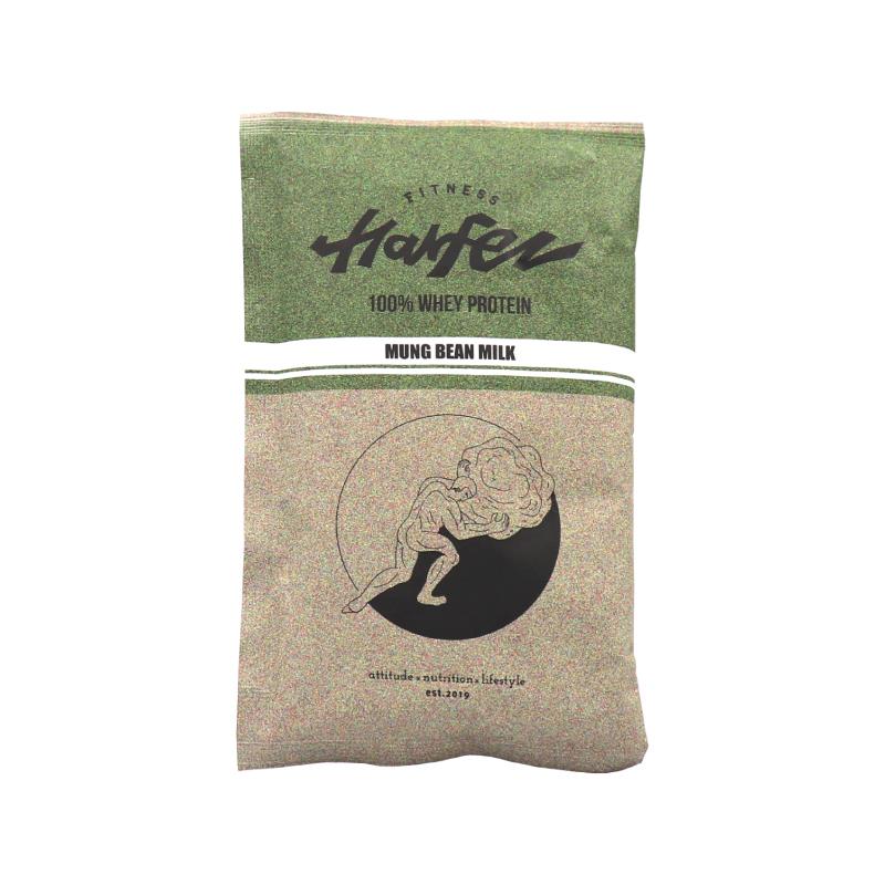 [Harfez Fitness] 力宴健身原創乳清蛋白(40g/份) 綠豆沙風味*10包(蛋奶素)