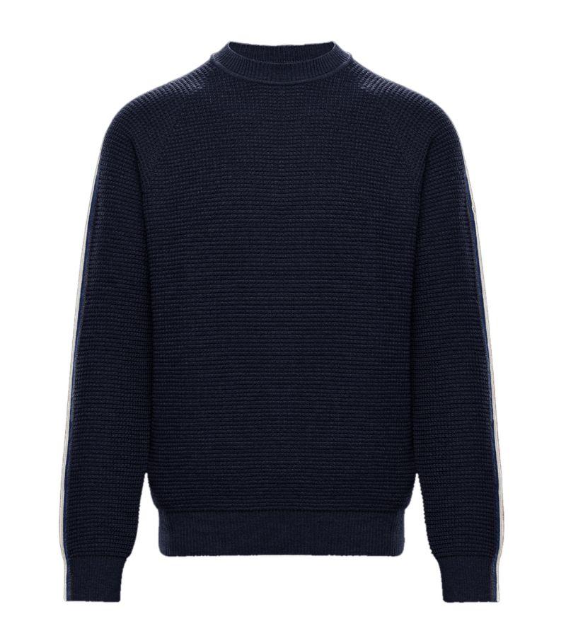 Moncler Wool Sleeve-Stripe Sweater