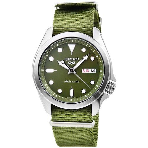 SEIKO 精工次世代5號機械帆布帶腕錶-綠面 / SRPE65K1