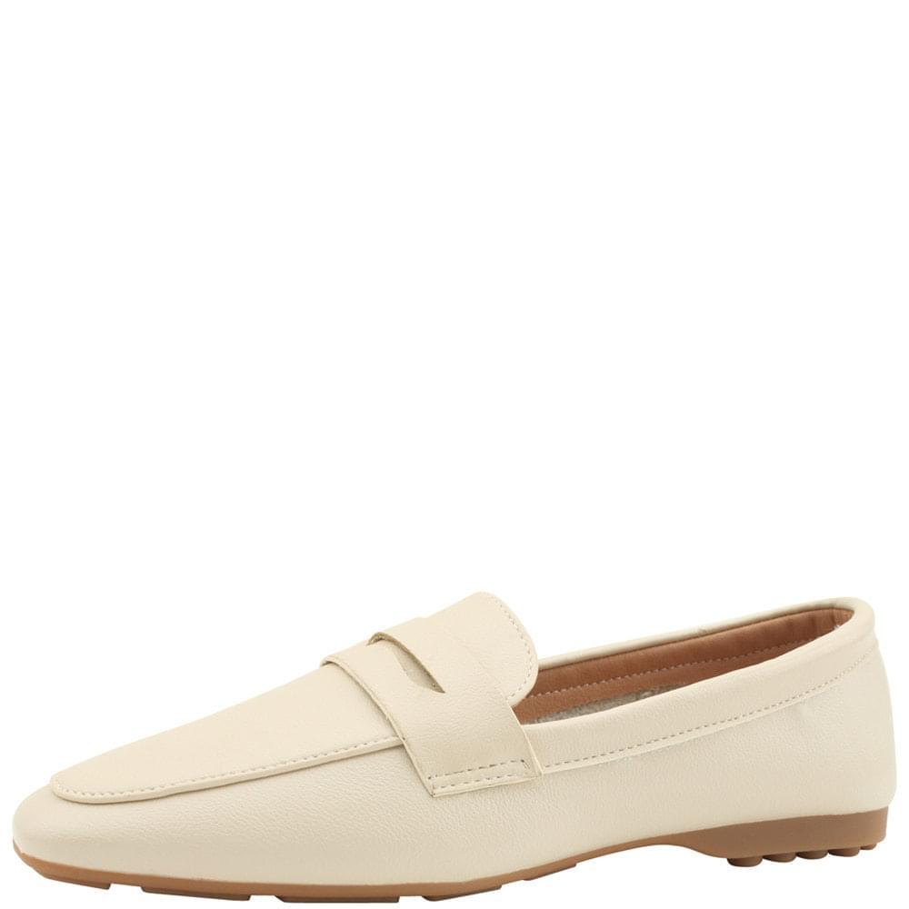 韓國空運 - Soft Driving Penny Loafers Ivory 樂福鞋