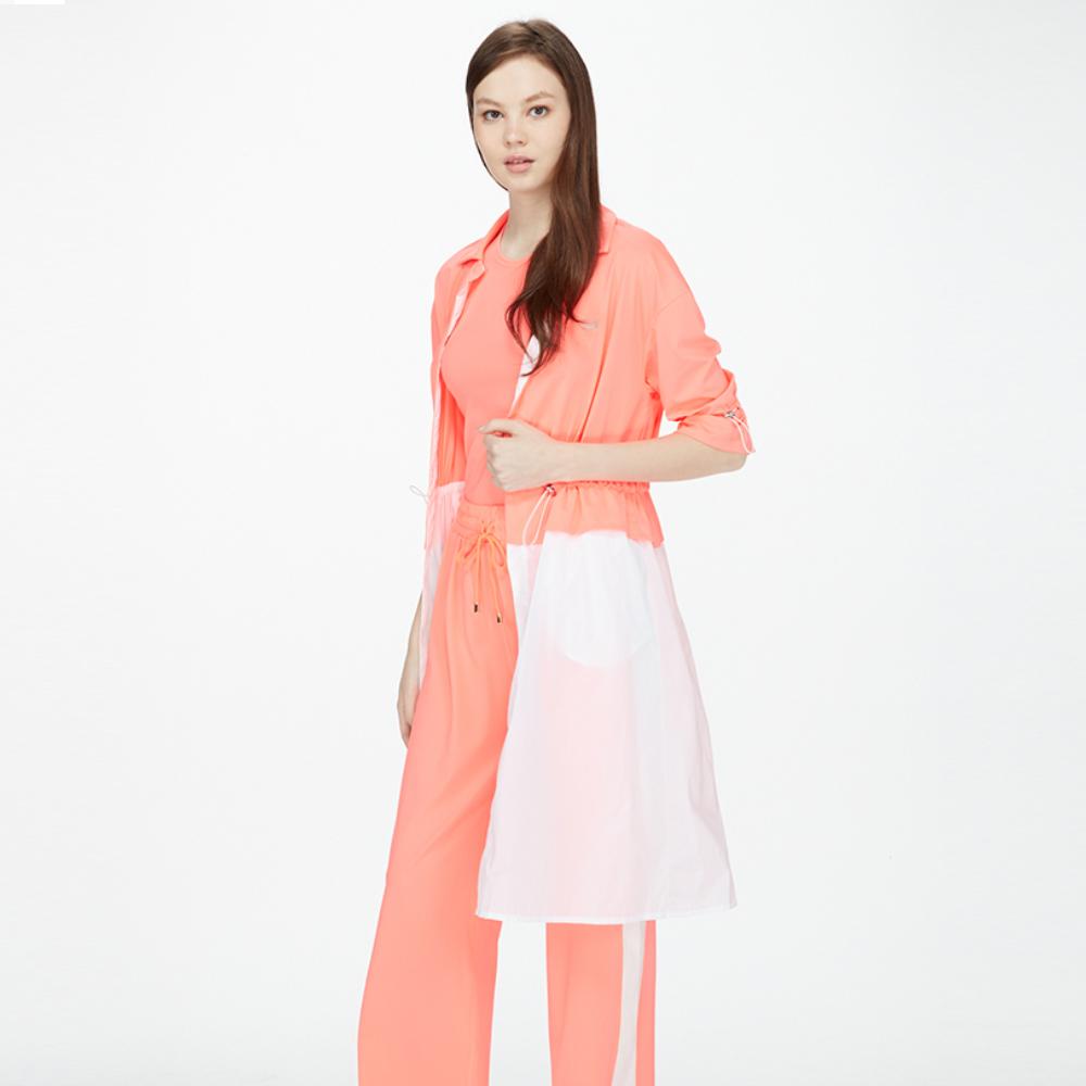 【HOII后益】造型長版罩衫(三色:黃/紅/藍)
