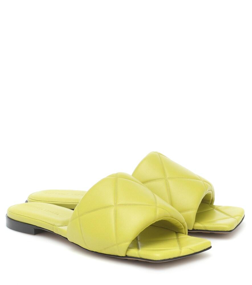 BV Rubber Lido leather slides