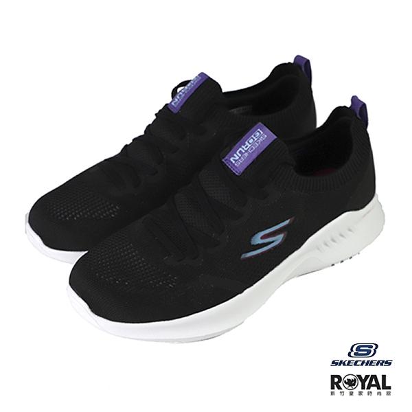 Skehcers Go Run 黑色 織布 套入 慢跑運動鞋 女款NO.J0569【新竹皇家 128145BKPR】