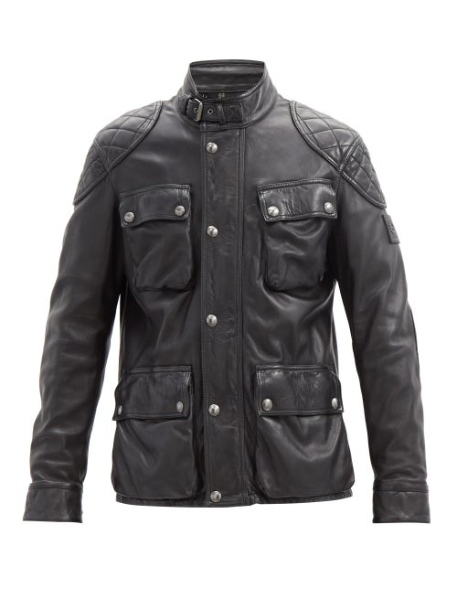 Belstaff - Fieldbrook 2.0 Leather Field Jacket - Mens - Black