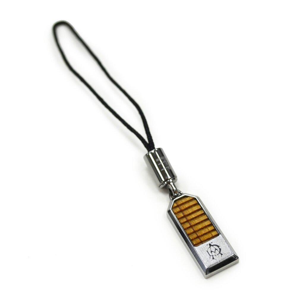 【Dunhill 】橡木橫紋銅鍍手機吊飾