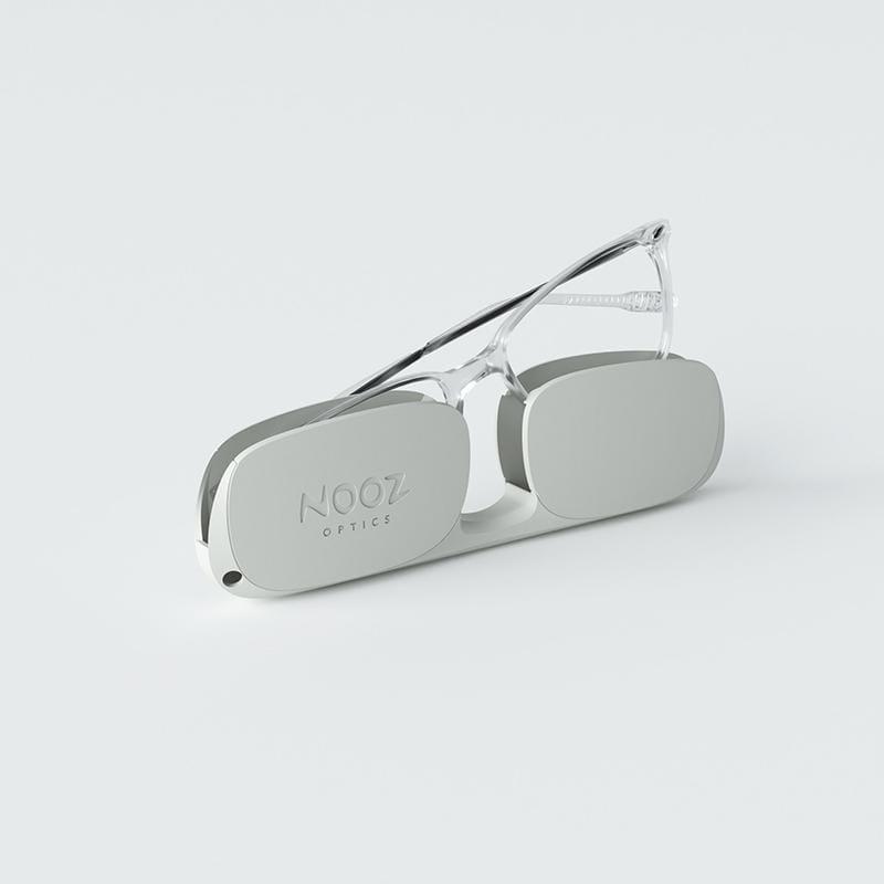 時尚造型老花眼鏡-鏡腳便攜款(矩形-透明) 3