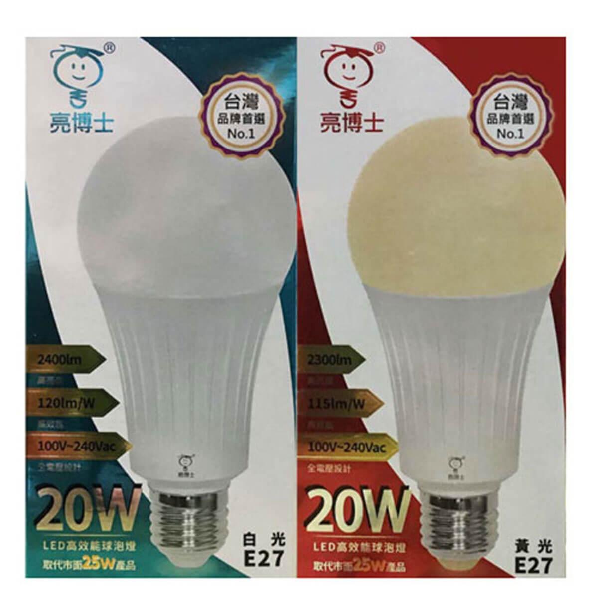 亮博士 LED 20W E27 高光效條紋球泡 A70 全電壓 白光/黃光/自然光〖永光照明〗DR-REC-A70-LED-20W%