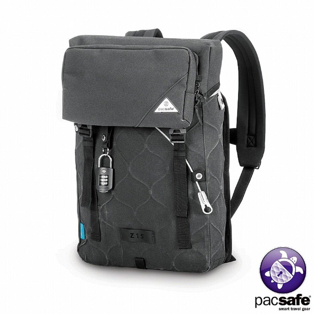 Pacsafe ULTIMATESAFE Z15 全鋼網防盜背包(15L) 碳灰