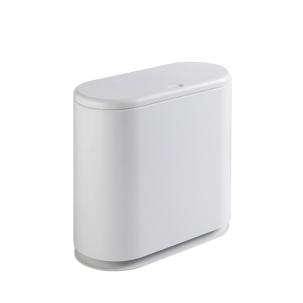 按壓式垃圾桶家用廁所衛生間窄縫垃圾桶分類客廳帶蓋翻蓋紙簍 -
