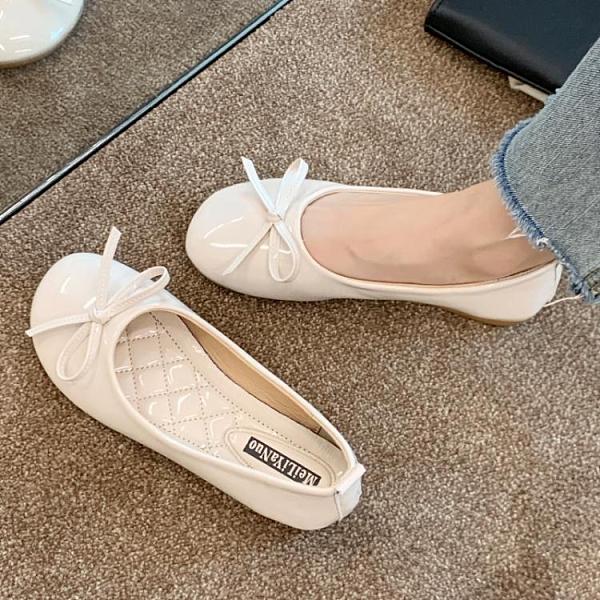 豆豆鞋蝴蝶結豆豆鞋2020年夏季新款流行女鞋軟底百搭平底單鞋溫柔淑女鞋 雲朵走走