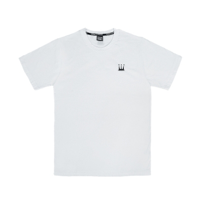 【DADA SUPREME】EMBROIDERY CROWN 中性刺繡休閒短袖上衣-白