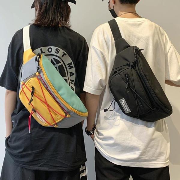 特惠全場九折 港風超大容量胸包男士學生iPad平板小背包女休閑單肩包斜挎包