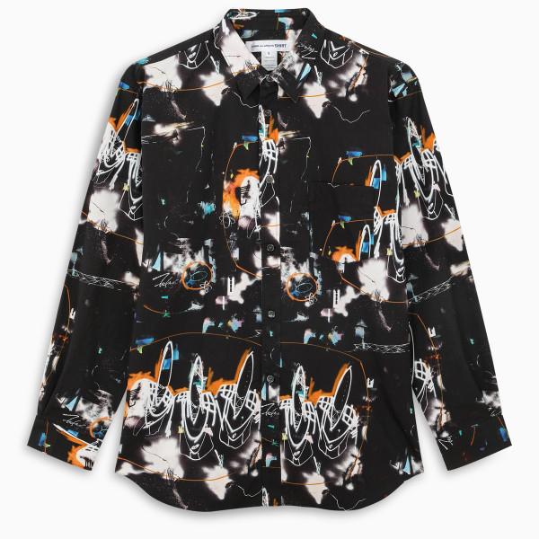 Comme des Garçons Shirt Black Futura 2000 print shirt