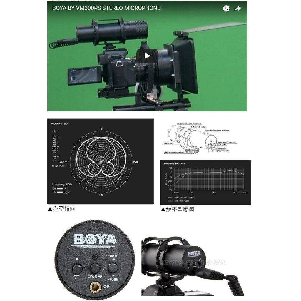 【eYe攝影】BOYA BY-VM300PS 指向性麥克風 小鋼炮 高感度 立體音 錄音 收音 專業型