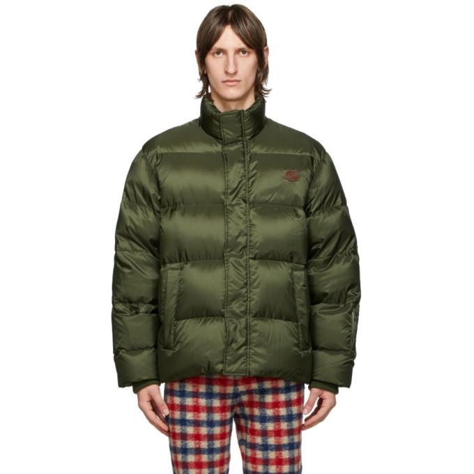 Gucci 绿色防撕面料羽绒大衣