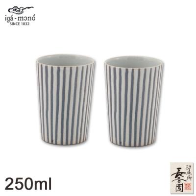 日本長谷園伊賀燒 日式陶土杯對杯組(十草白款小)
