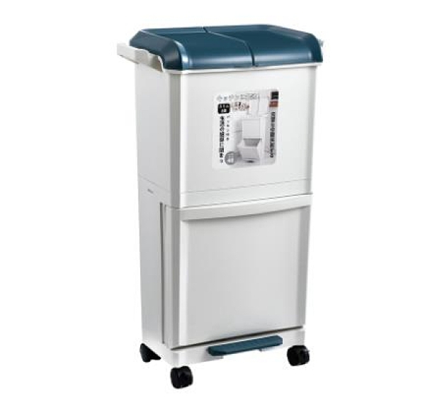 雙開蓋垃圾桶塑料特大號家用廚房垃圾箱收納簍垃圾干濕分類收納桶 WJ8號店