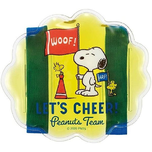 小禮堂 史努比 造型透明果凍顆粒保冷劑 保冰劑 冰敷袋 (黃 旗子) 4973307-49527