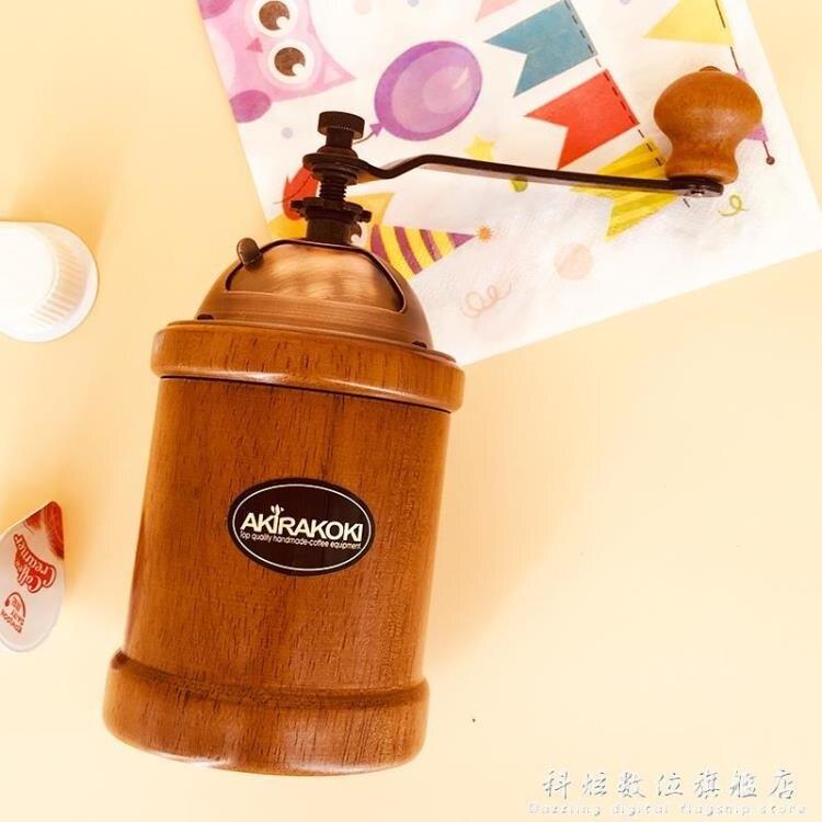 行手搖磨豆機 咖啡豆研磨機 手動家用磨粉機咖啡器具A12SUPER SALE樂天雙12購物節