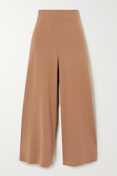 A.L.C. - Mateo 短款针织阔腿裤 - 驼色 - large