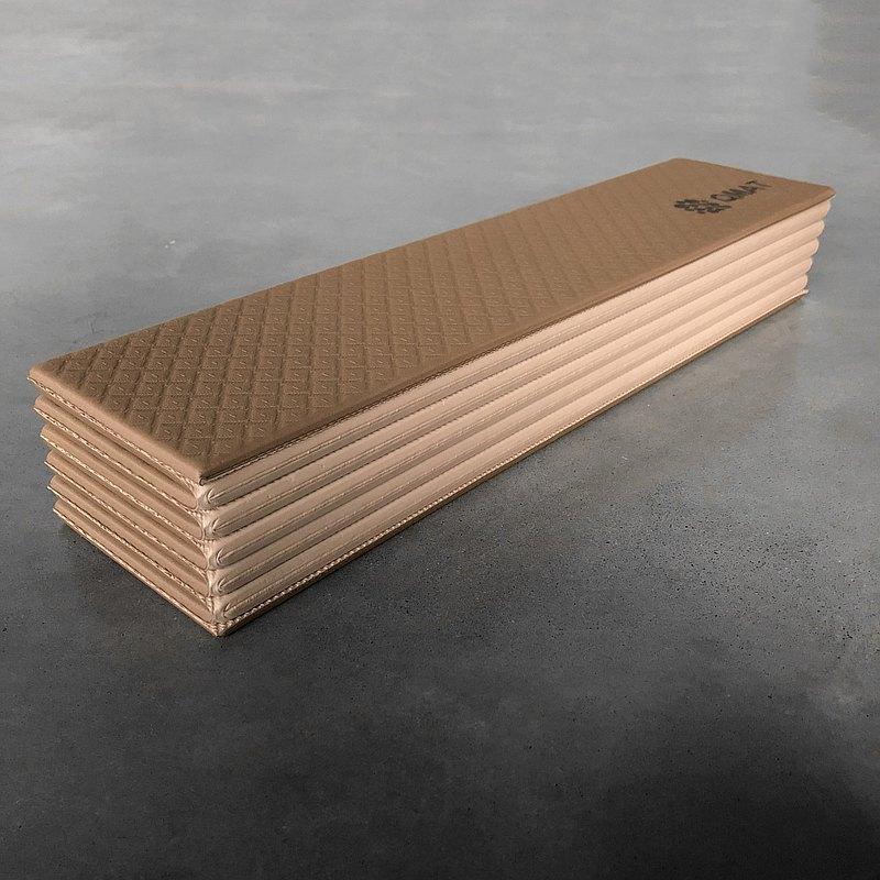 摩卡棕QMAT-折疊瑜珈墊 無毒無膠味雙面止滑 方便攜帶收納清潔