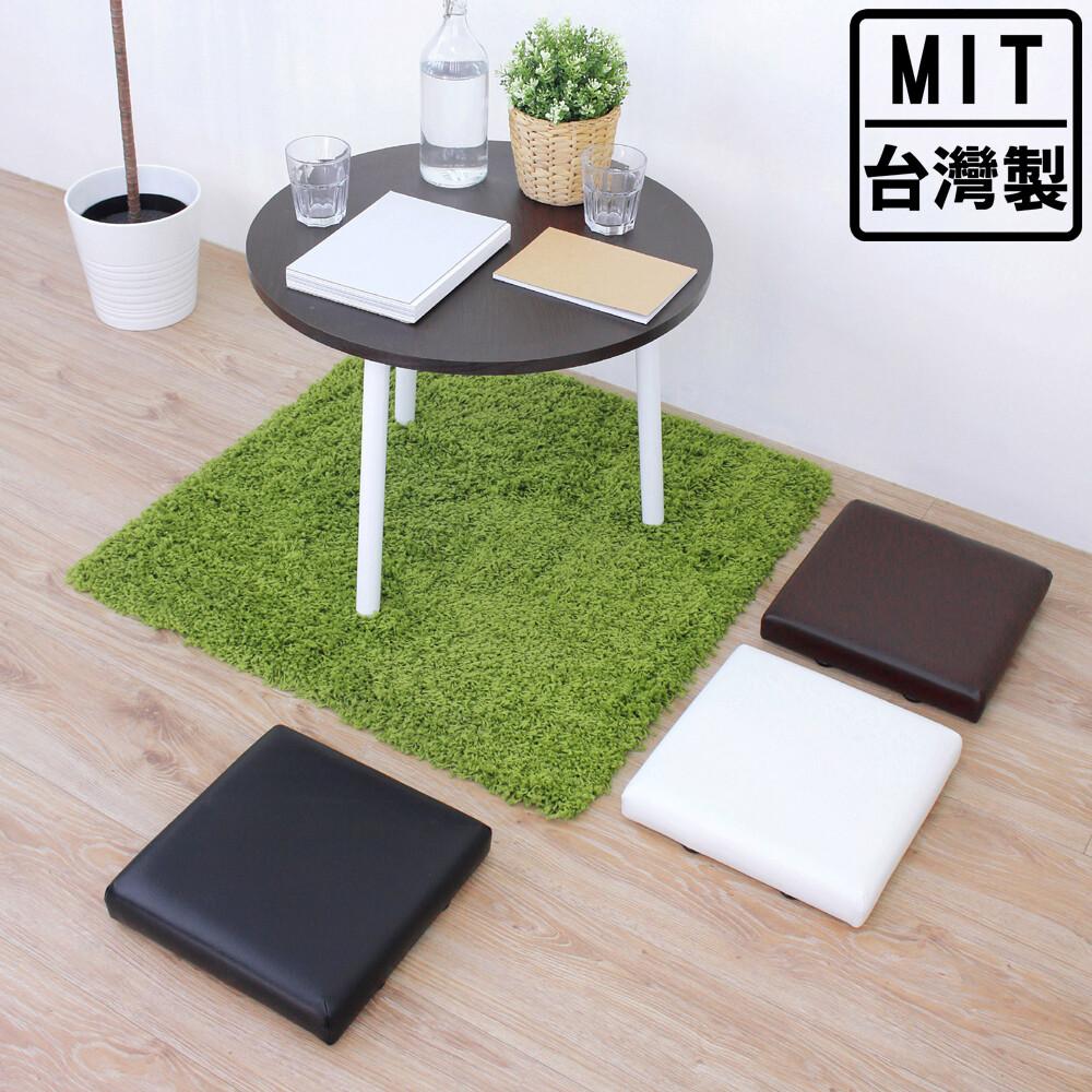 愛家寬31公分-厚型沙發(皮革椅面)和室坐墊/沙發坐墊/椅墊(三色可選)-加贈防滑腳墊x4片