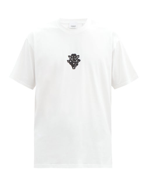 Burberry - Elephant-print Cotton-jersey T-shirt - Mens - White Black