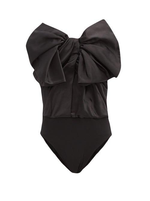 Alexandre Vauthier - Exaggerated-bow Strapless Duchess-satin Bodysuit - Womens - Black
