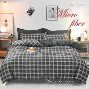 《DUYAN 竹漾》舒柔棉雙人床包三件組- 羅馬黎明 台灣製