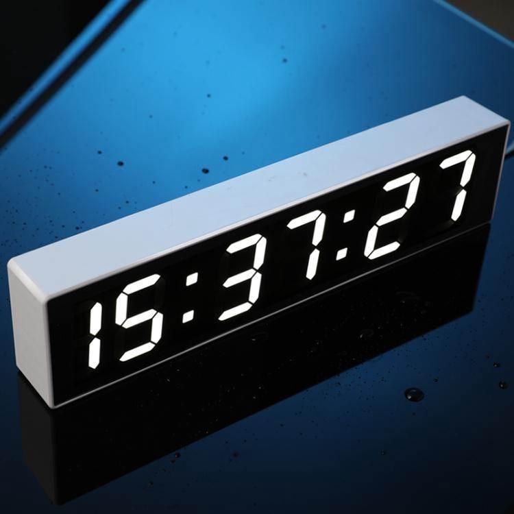 鬧鐘萬年歷電子鐘日歷鐘錶夜光靜音電子鐘床頭小鬧鐘