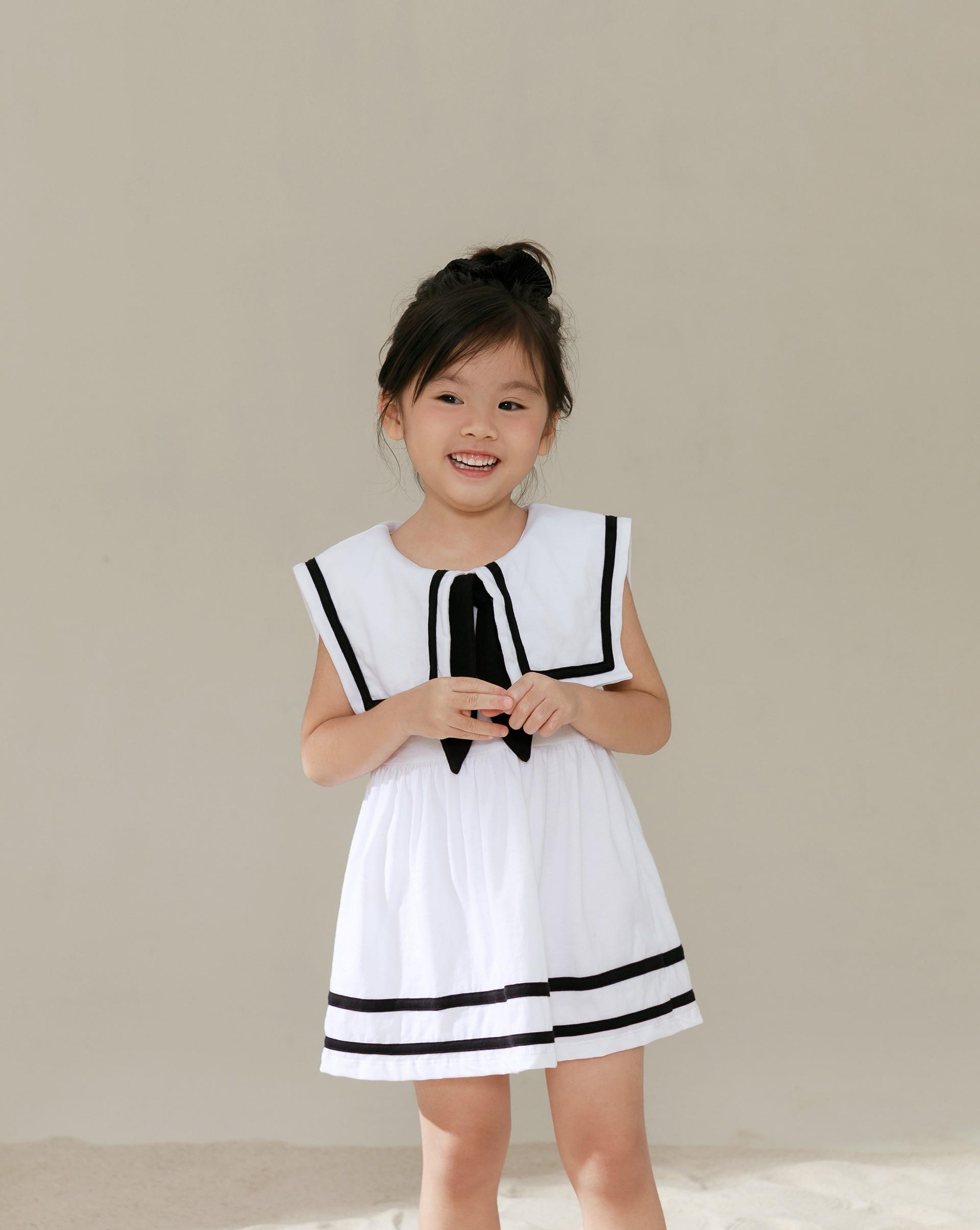 Meierq+PROJECT.M 大翻領水手服洋裝(附綁帶)-童裝