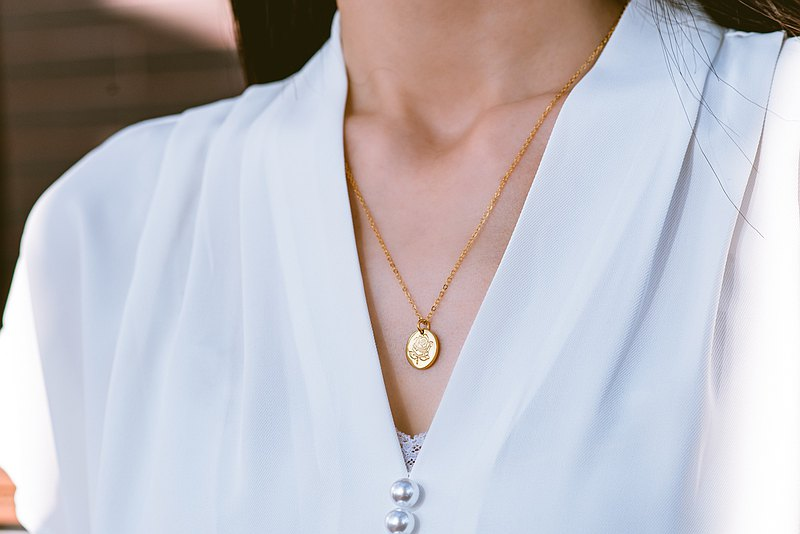 【客製化禮物】Flora Necklace 花神項鍊・純銀項鍊厚鍍18K金