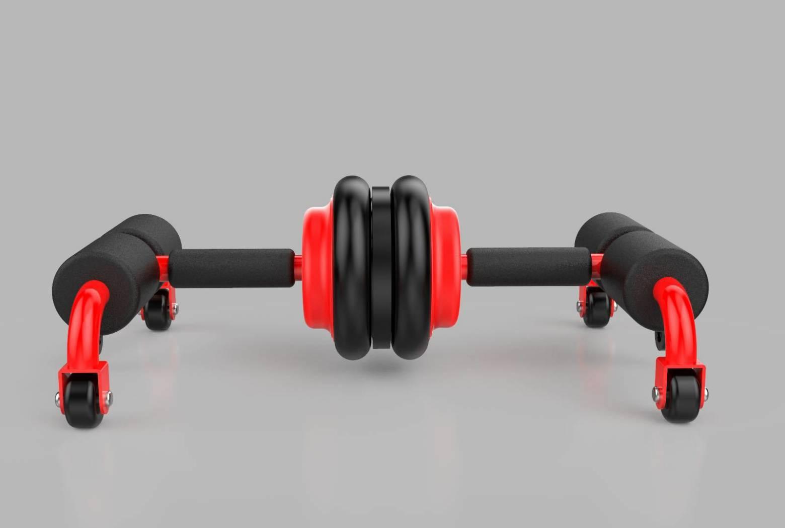 【新品】多功能運動健身器材 仰臥起坐輔助器 健腹輪 健腹器 俯臥撐 仰臥起坐 吸盤 滾輪