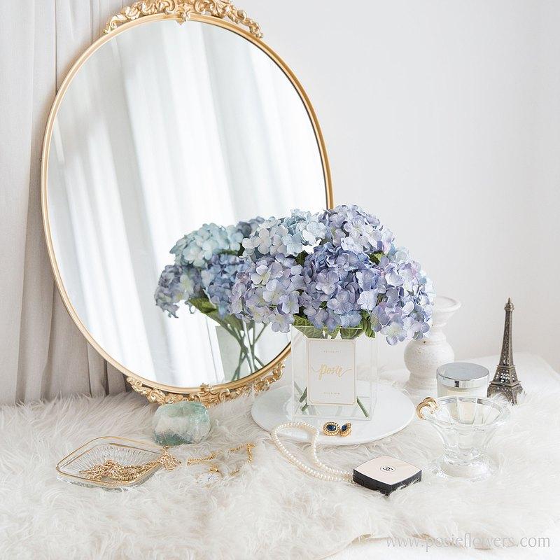 藍色繡球巴黎裝飾花瓶