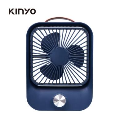KINYO復古無段式桌扇(藍)UF6745BU