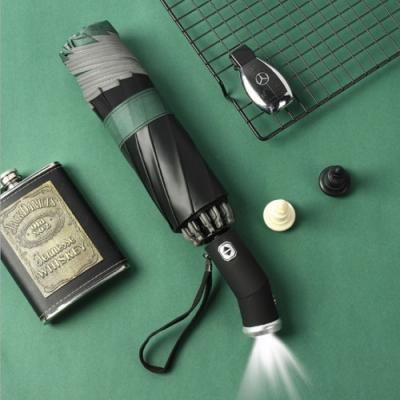 【泰GER生活選物】10骨LED燈全自動反向大傘面折疊傘|5色